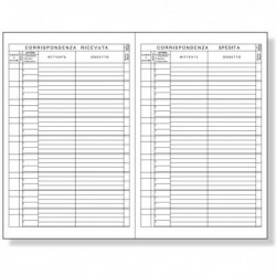 Registro Protocollo Lettere Ricevute - Spedite 21x31 cm. 100 Fg. BM.