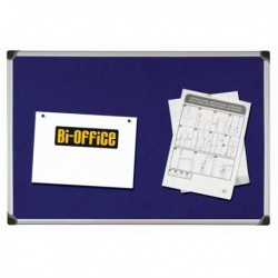 Pannello in Tessuto 90x120 cm. Blu Felt Board BI-OFFICE. Pannello in feltro