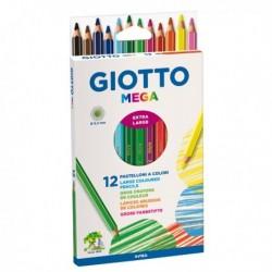 Pastelli GIOTTO Mega - 5.5 mm - da 3 anni in poi - 225600 (12 Pz)