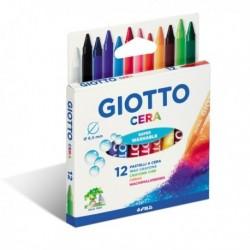 Astuccio confezione Pastelli a cera 90 mm - diam. 8.5 mm - GIOTTO 281200 (12 Pz)