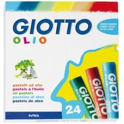 Astuccio confezione Pastelli ad olio 70 mm - diam. 10 mm - GIOTTO 293100 (24 Pz)