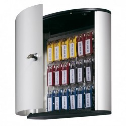 Cassetta portachiavi Key Box Code - ARGENTO METAL - 30.2x28x11.8 cm - 18 posti.
