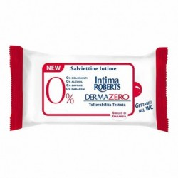 Pack 12 Salviette intime Roberts Dermazero ipoallergeniche, prive di ingredienti