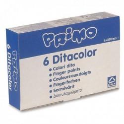 Box Confezione 6 Colori a dita 250 gr. CMP PRIMO - MOROCOLOR 222TD6G