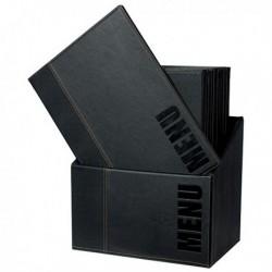 Portamenu' Scatola Box Trendy con 20 Porta Menu' Nero SECURIT. Scatola contenito