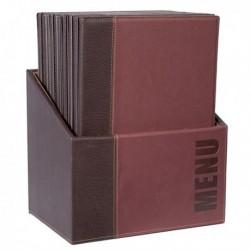 Menu-Box Trendy con 20 porta menu' Bordeaux SECURIT. Scatola contenitore in