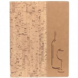 Carta dei vini A4 - 24x34 cm Sughero Design con 1 inserto doppio SECURIT