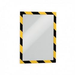 Confezione 2 Cornice Autoadesiva Giallo/Nera DURABLE 4944-130