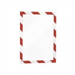 Confezione 2 Cornice Autoadesiva Rosso/Bianco DURABLE 4944-132