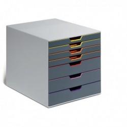 Cassettiere da scrivania Varicolor - GRIGIO e MULTICOLORE - 7 cassetti - DURABLE