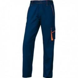 Pantalone da Lavoro M6Pan BLU/ARANCIO Tg. XL Panostyle DELTAPLUS. Pantalone da