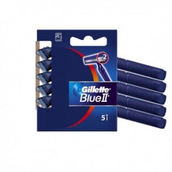GILLETTE Blue II Standard - Kit 5 Rasoi usa e getta a 2 lame.