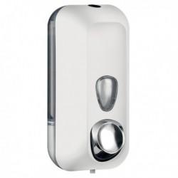 Dispenser sapone liquido 0.55 Lt. Bianco soft touch MAR PLAST. Dispenser a riemp