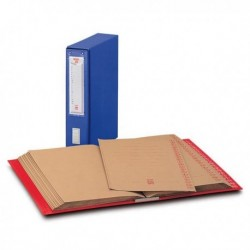 Classificatore Alfabetico Mec 20 KING MEC - BLU - 23x32 cm - dorso 8.5 cm.