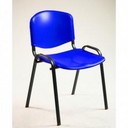 Sedia Attesa Dado D5SP BLU senza braccioli - UNISIT. Seduta impilabile con strut