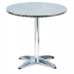 Tavolo tondo Bar in Alluminio 70 cm - H 70 cm - SERENA GROUP 4040D. Tavolino in