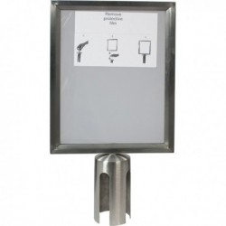 Display A4 per colonnina separa code SECURIT RS-SIGN-A4-PS. Display informativo