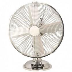 Ventilatore Cromo 30 da tavolo 38W. Ventilatore in metallo cromato robusto ed