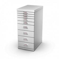 Cassettiera in Metallo a 9 Cassetti 29x43 - H 67 cm GRIGIO