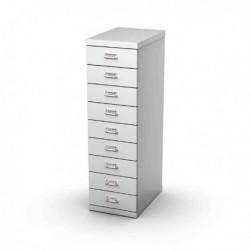 Cassettiera in Metallo a 9 Cassetti 29x43 - H 97 cm GRIGIO