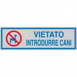 Targhetta Adesiva 165x50 mm 'Vietato Introdurre Cani' (10 Pz)